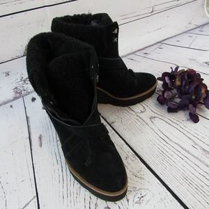 Coach Kenna black suede boots - 9